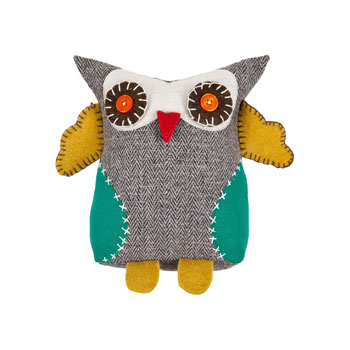 Hot on the high street: Zara owl cushion