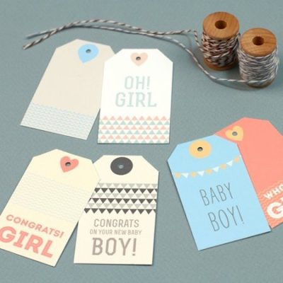 Free Printable New Baby Gift Tags by Love VS Design