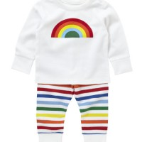 Hot on the high street: Little Bird rainbow pyjamas