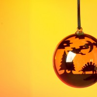 Designosaur stegosaurus ROARball Christmas decoration