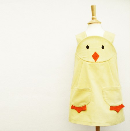 Corduroy chick/duckling dress, £42, Wild Things Dresses