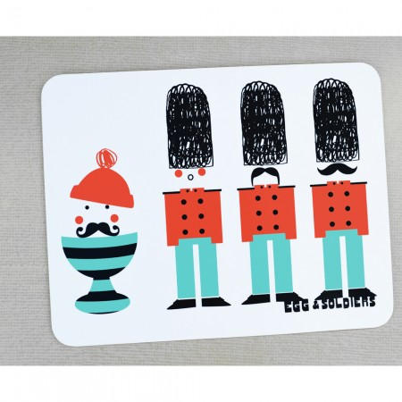 Egg and soldiers placemat, £7, Hunky Dory Home