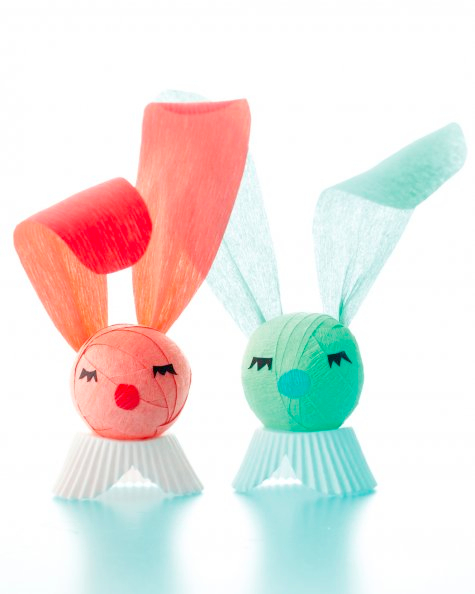 Crepe paper Surprise Bunny, Martha Stewart