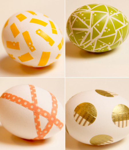 DIY washi tape Easter eggs, Lovely Indeed