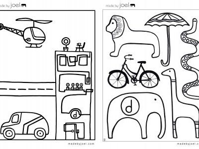 Great printable: Made By Joel colouring sheets