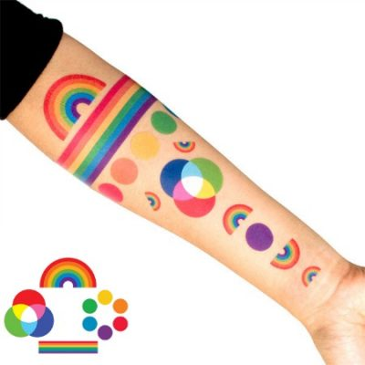 Tattly rainbow temporary tattoo set