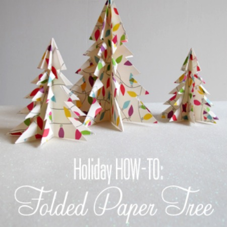 Folded Christmas Paper Tree