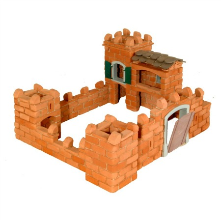 Teifoc Large Castle clay brick building system kit