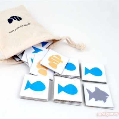 Free printable: Don't wake the shark matching pairs game