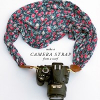 Make a camera strap from a scarf