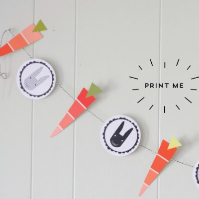 Free Printable: Easter Garland