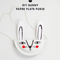 DIY bunny paper plate purse by Mer Mag