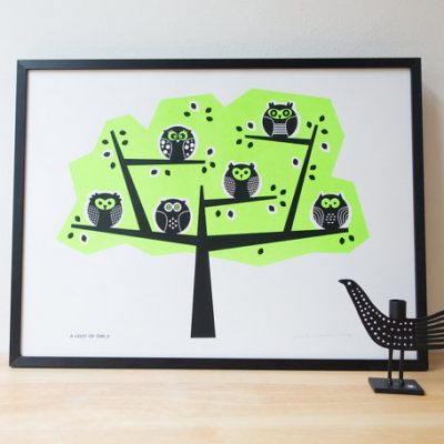 Stoats and Weasels owl print