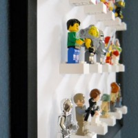 Framed Lego figure display