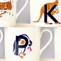 Mary Kuper alphabet mugs