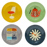 Hot Buy of The Day: Mid Century Modern set of four plates now £10