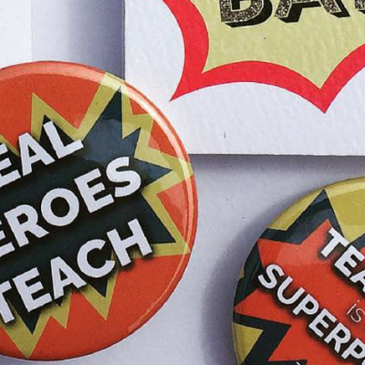 Superhero Teacher Badges
