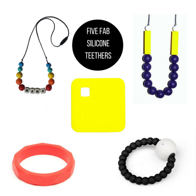 Five Fab… Silicone teethers