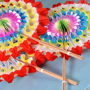 Paper Fan Rainbow Party Bag Filler