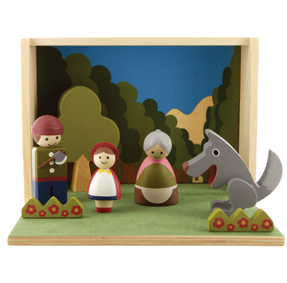 Little Red Riding hood wooden toy