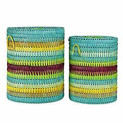 kids palm leaf basket