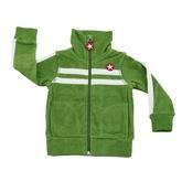 Kik Kid Terry Cotton Zip-Up Jacket in Green