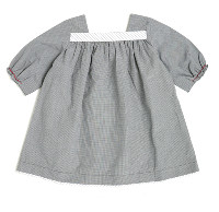 Caramel Baby and Child Black Gingham Sharon Dress