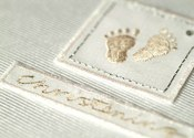 Christening Little Feet Guest Book
