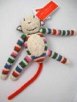 Anne-Claire Petit Organic Cotton & Cashmere Mix Colour Stripes Monkey