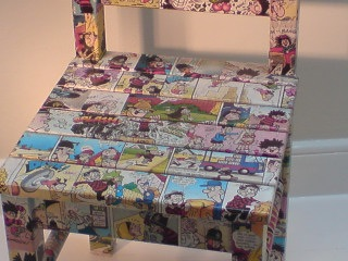 decoupage chair detail from D for Daisy