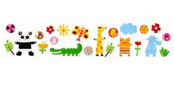 Friends of the Amazon Removable Stickers by Djeco