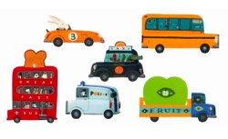 Automobiles Removable Stickers by Djeco
