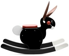 playsam rocking rabbit black