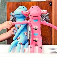 Small Paul Pink Or Blue Sock Monkey