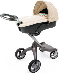 stokke xplory cream with carrycot