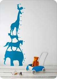 Wallsticker, Animal Tower by ferm living