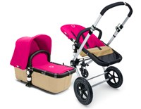 bugaboo chameleon in pink and tan with carrycot