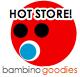 hot store logo for bambino goodies