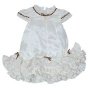 Christening Gown With Leopard Print And Frill Accents by roberto cavalli