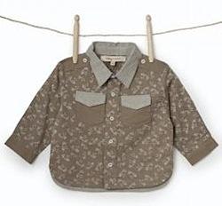 Boy's Molly 'n' Jack Grey Dobby Printed Shirt