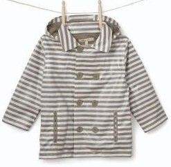 Boy's Molly 'n' Jack Stripe Waterproof Coat