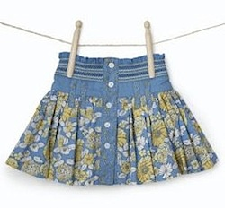 Girl's Molly 'n' Jack Floral Print Double Layer Skirt