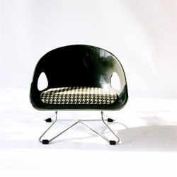 Black Cosco adjustable booster seat