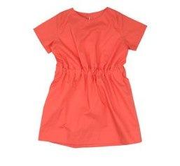 raspberry cotton dress