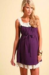 ASOS MATERNITY PREMIUM Exclusive Lace Insert Dress