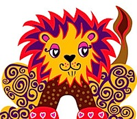 oribami pop-out card lion
