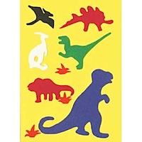 dinosaur fuzzy felt card