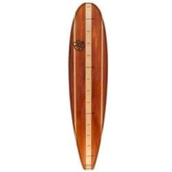 Classic Surfboard Shaped Children's Height Chart - Woody Dark