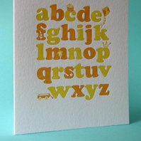 alphabet card by sweet beets