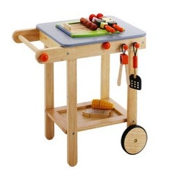 Habitat Kids wooden barbecue and food set